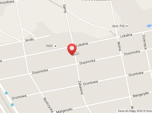 Mapka dojazdu do Glever z Warszawy