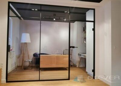 Ścianka szklana loftowa