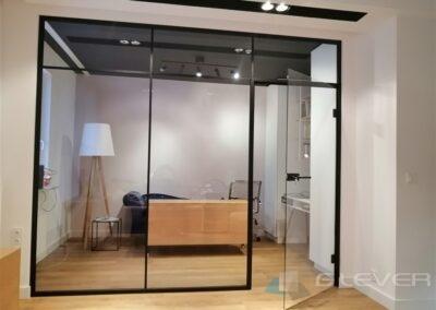 Ścianka szklana loft