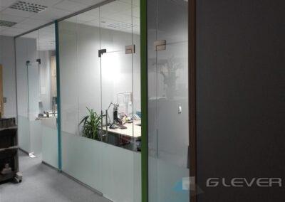 Ścianki szklane z drzwiami