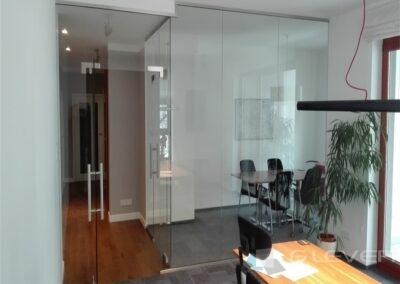 Ścianki szklane w biurze