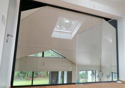Ścianka szklana na poddaszu