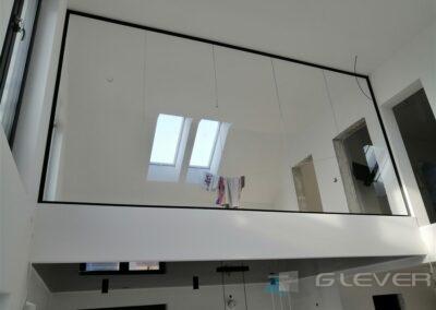 Ścianka szklana na antresoli